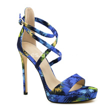 Summer Cross Strappy Tacones altos para damas